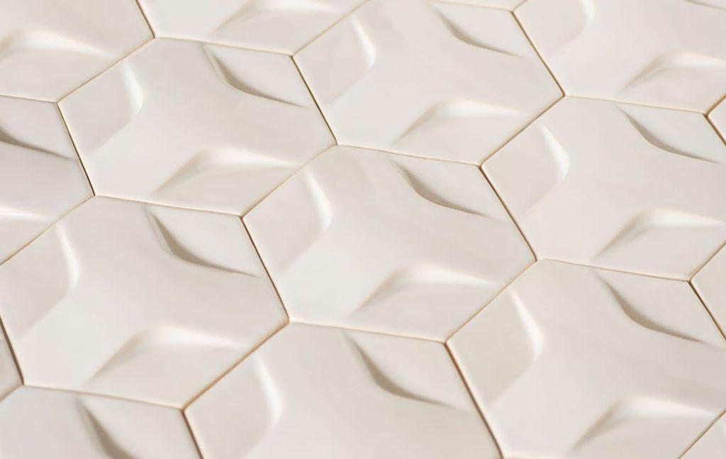 ModCraft-Hexon-modern-wall-tile-winter-white-glaze-angle