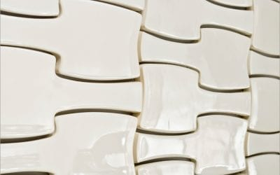 ModCraft dimensional wall tile InterLock in white glaze