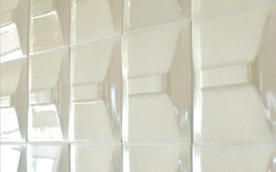 ModCraft dimensional wall tile Peak in white glaze