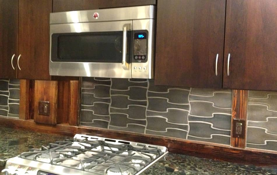 InterLock dimensional tile in Pewter glaze in Modern Vintage Home