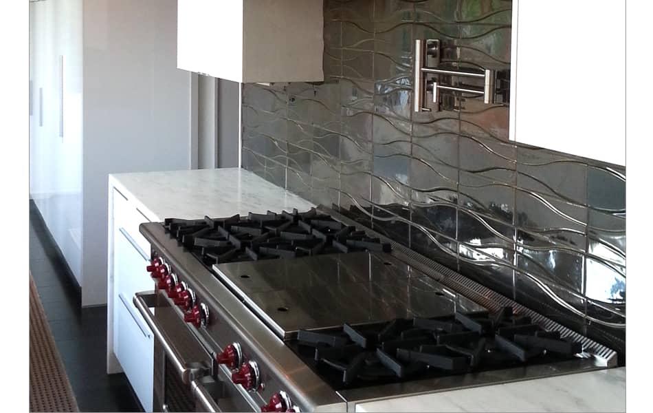 Hudson dimensional tile in new Stannic Glaze
