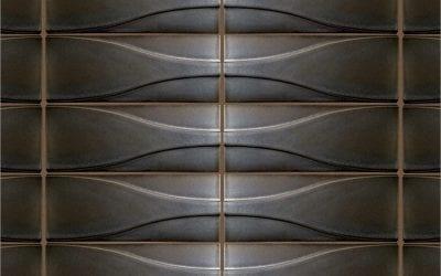 "ModCraft dimensional wall tile style ""Hudson"" in lead glaze"
