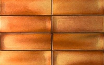 ModCraft dimensional wall tile Step in Lobster reddish brown glaze