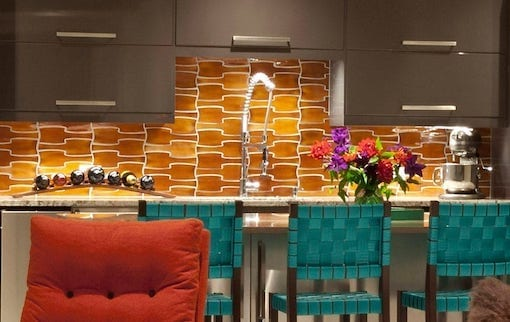 Modern Dimensional wall tile Interlock