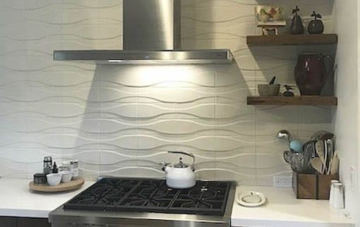 Dimensional wall tile Hudson