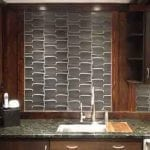 InterLock dimensional tile in Pewter glaze in Modern Vintage Home