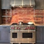 Hudson Dimensional Wall tile in Lobster Glaze